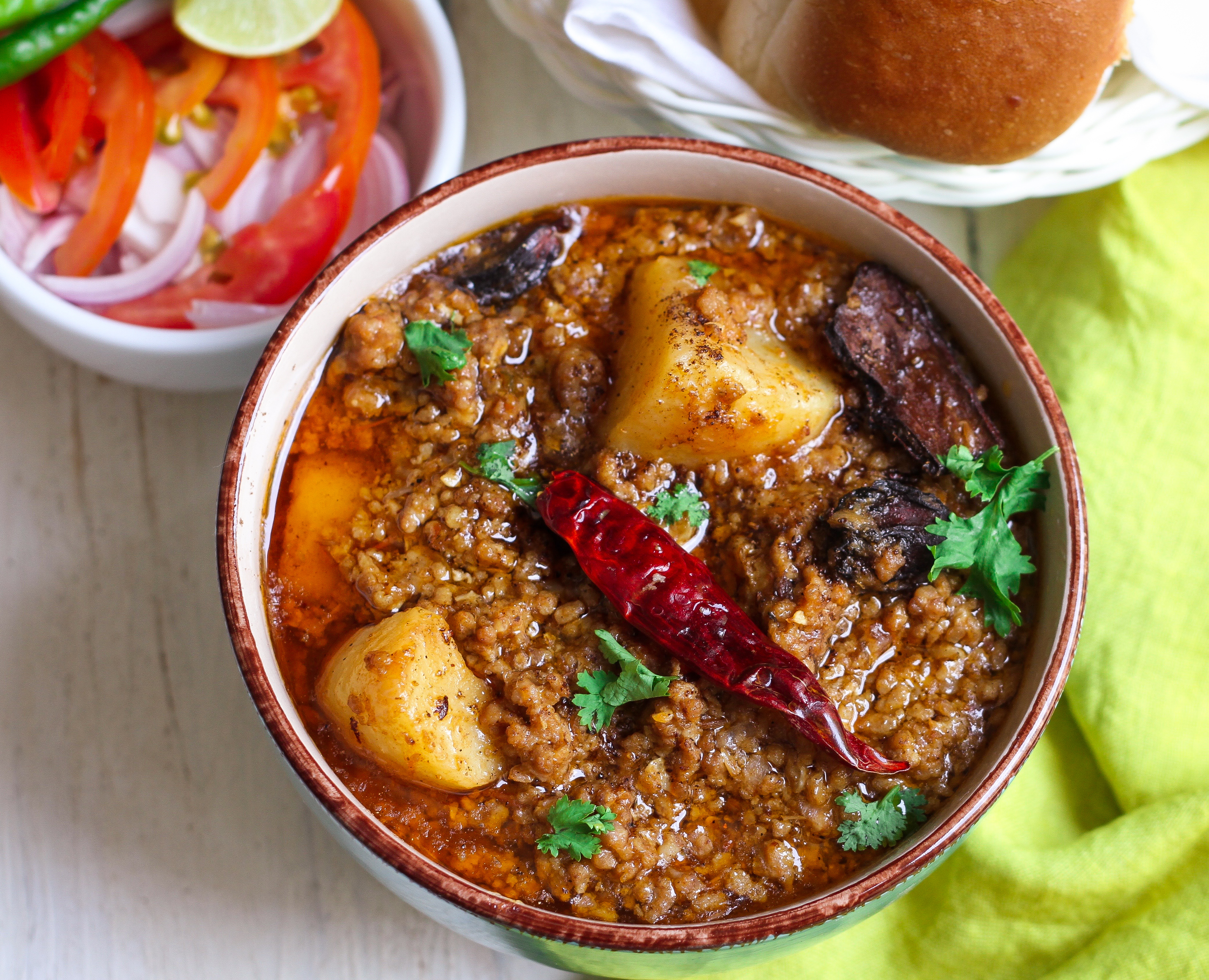 Aloo Qeema is a wonderful Pakistani dish made with minced meat and potatoes. Traditionally served with roti, it can also be eaten with side dish of rice.  Because the meat used… View Details